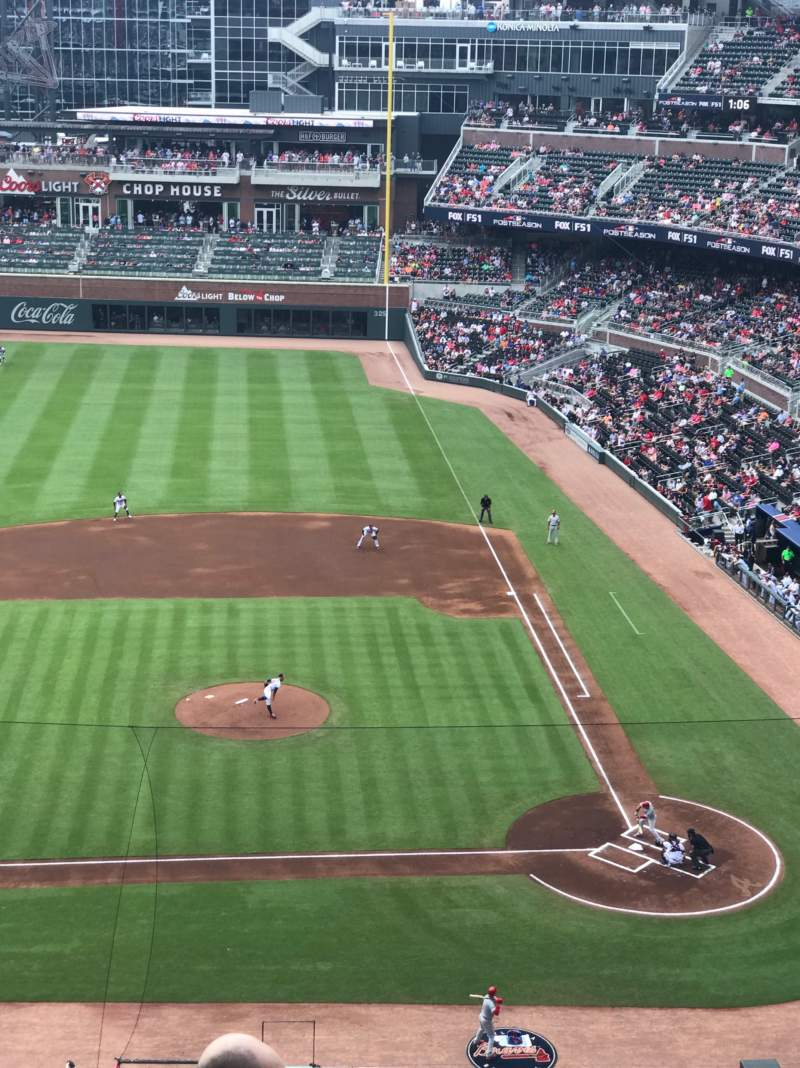 Seating view for SunTrust Park Section 330 Row 7 Seat 22