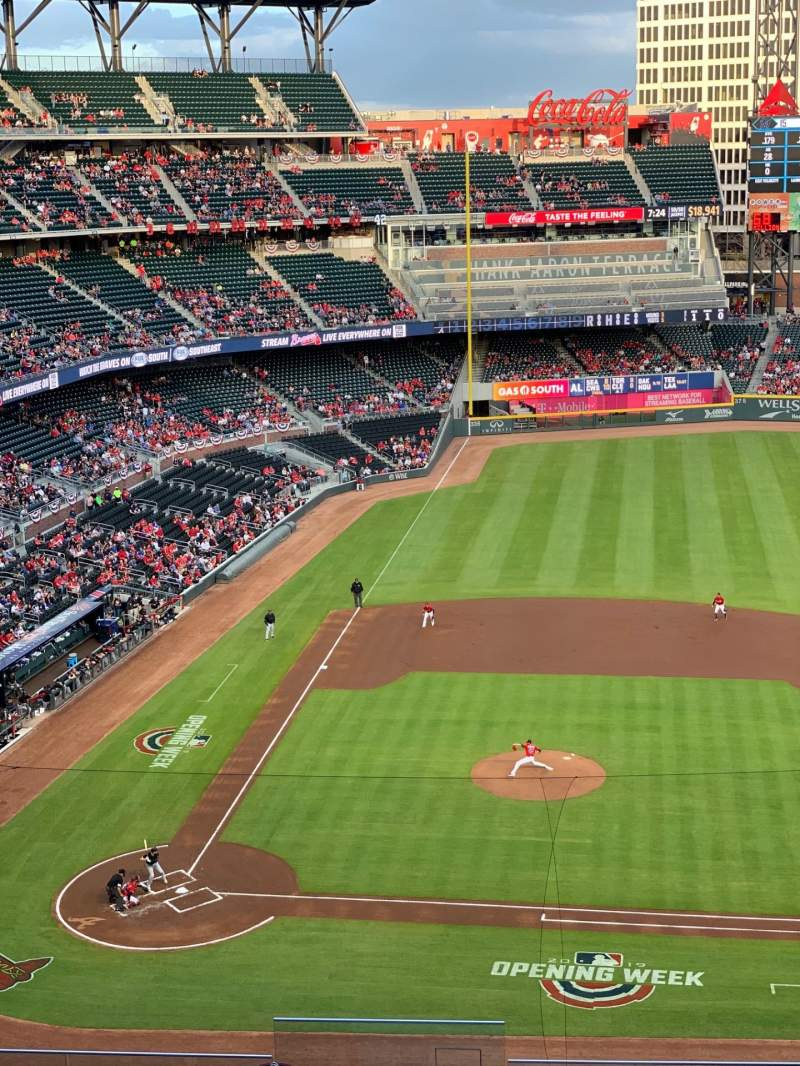 Seating view for SunTrust Park Section 320 Row 10 Seat 24
