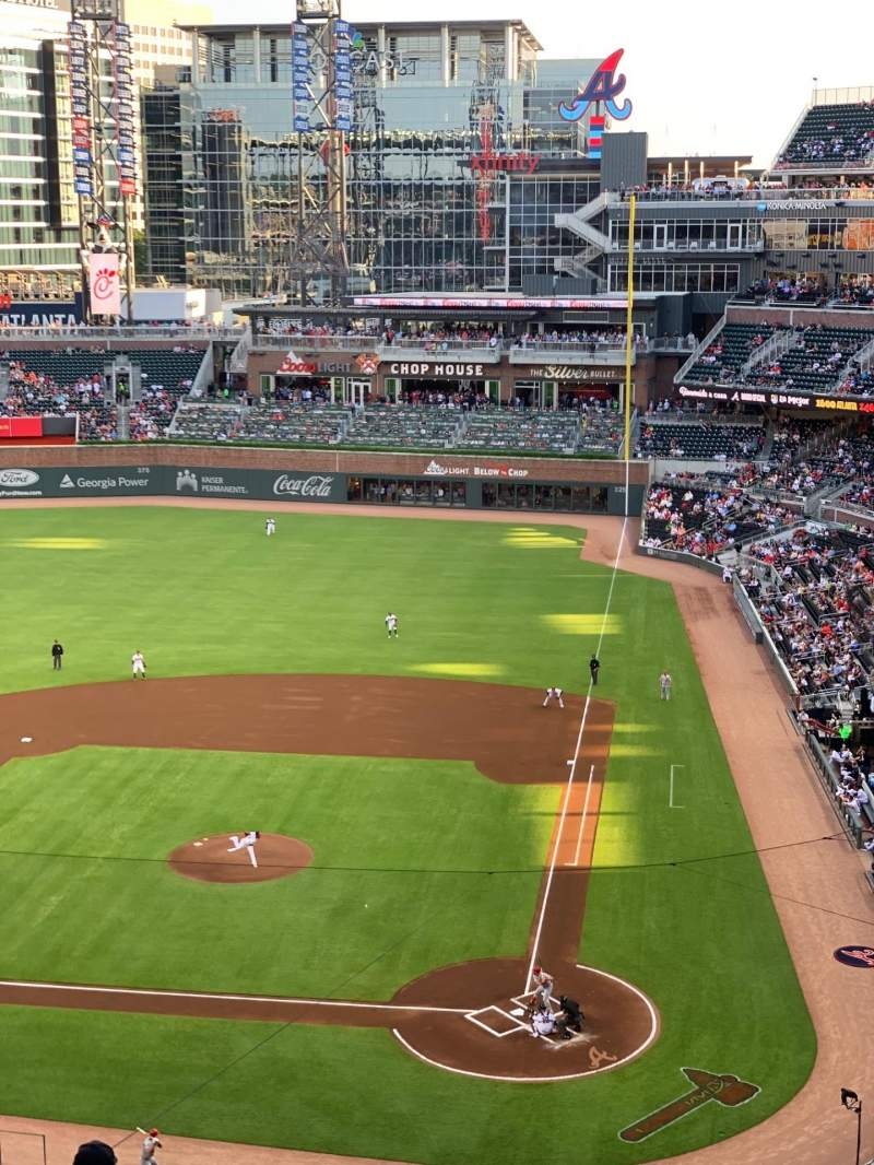 Seating view for SunTrust Park Section 329 Row 9 Seat 1