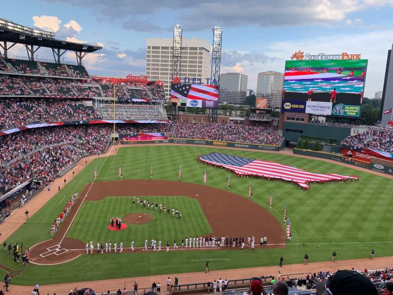 Seating view for SunTrust Park Section 322 Row 7 Seat 22
