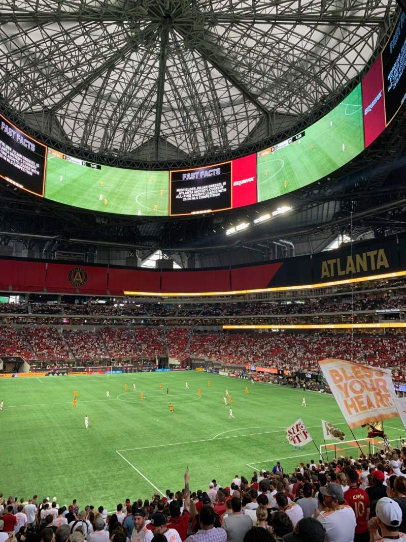 Seating view for Mercedes-Benz Stadium Section 103 Row 35 Seat 17