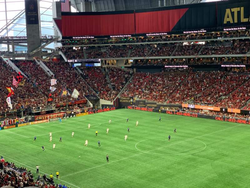Seating view for Mercedes-Benz Stadium Section 231 Row 7 Seat 20