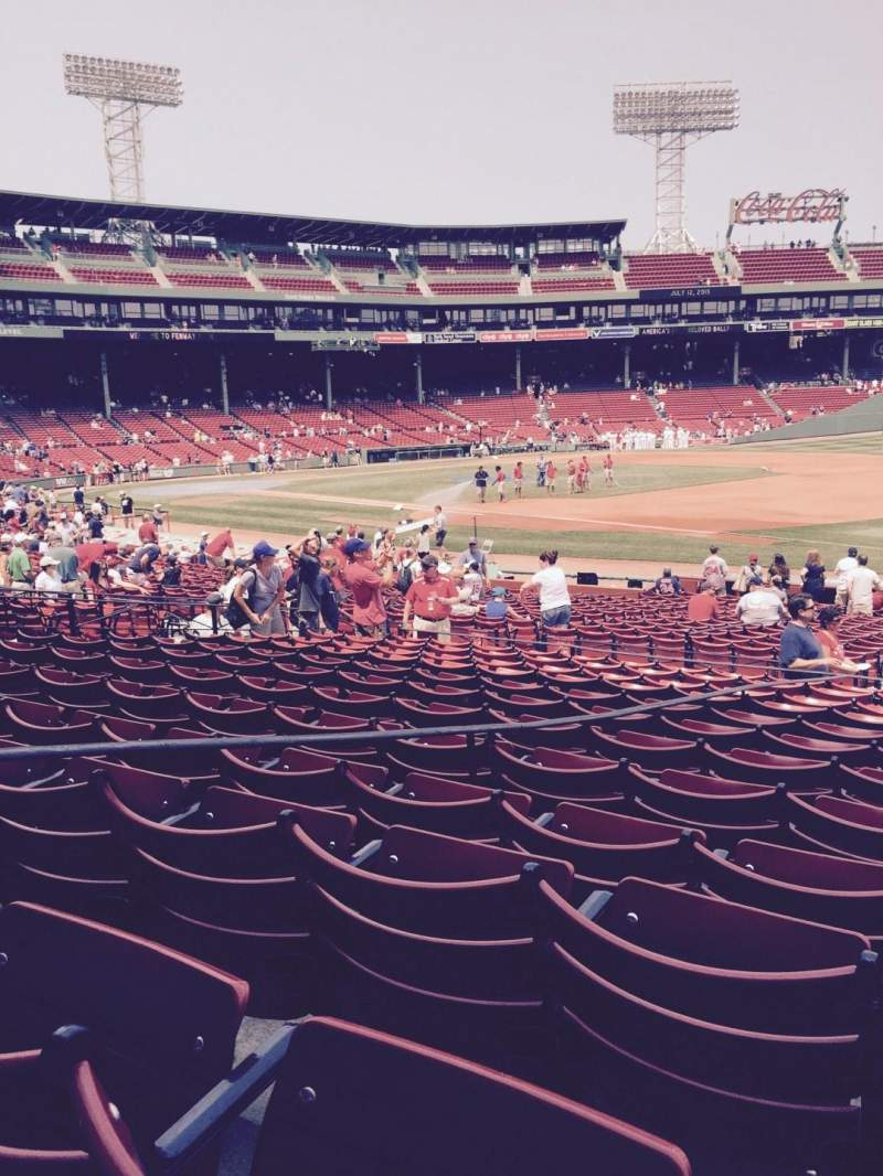 Seating view for Fenway Park Section Loge Box 104