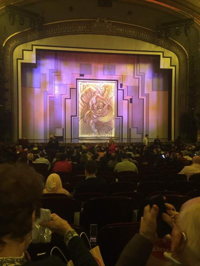 Seating view for Lyric Theatre Section ORCH Row T Seat 104