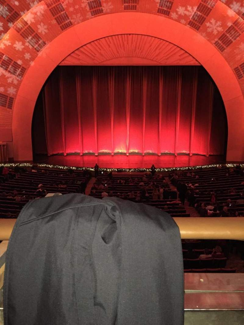 Seating view for Radio City Music Hall Section 1st Mezzanine 4 Row A Seat 408