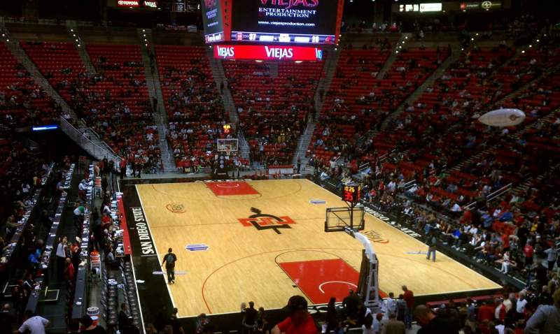 Seating view for Viejas Arena Section v Row 23 Seat 12