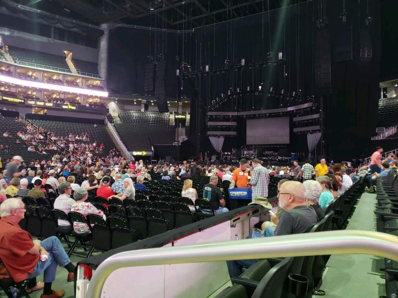 Seating view for Pepsi Center Section 148 Row 2 Seat 1