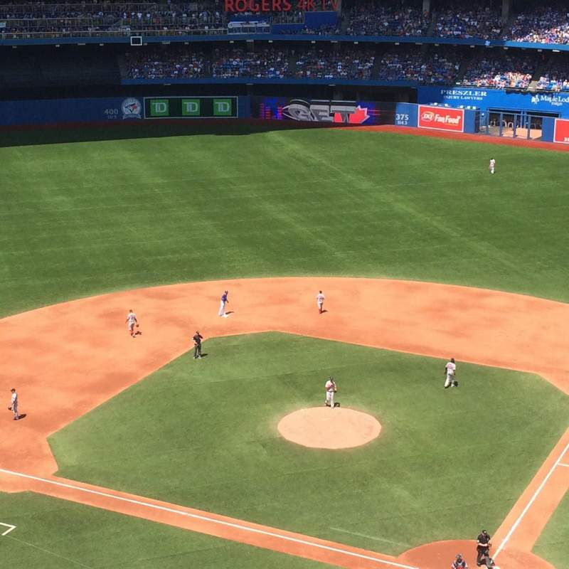 Seating view for Rogers Centre Section 526 Row 9 Seat 5-6