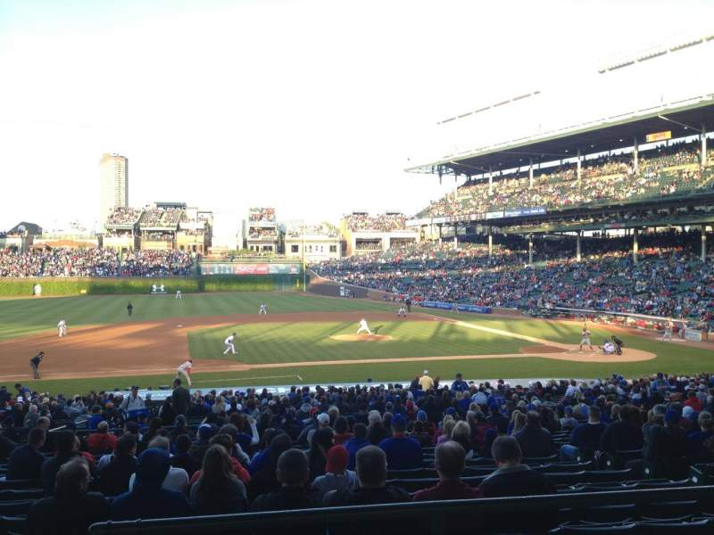 Seating view for Wrigley Field Section 213 Row 3 Seat 3