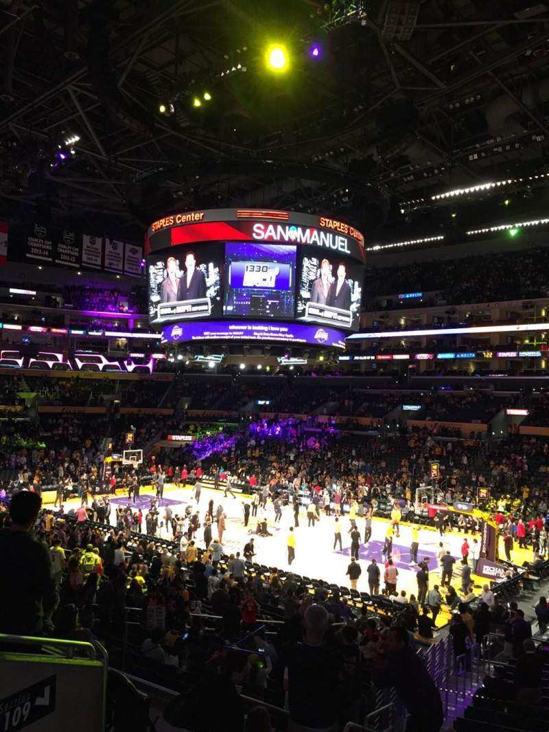 Staples Center, section: Pr11, row: 5, seat: 5