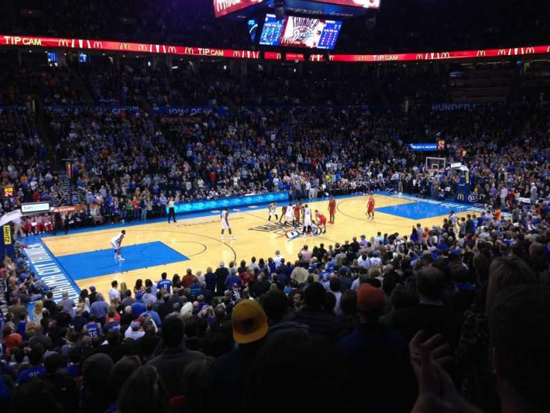 Seating view for Chesapeake Energy Arena Section 107 Row S Seat 15