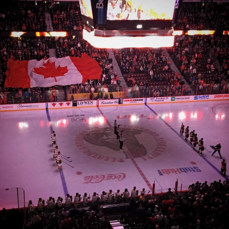 Seating view for Canadian Tire Centre Section 309 Row B Seat 7