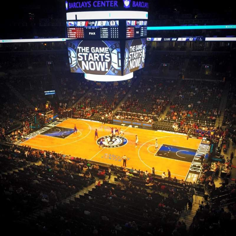 Seating view for Barclays Center Section 222 Row 1 Seat 15