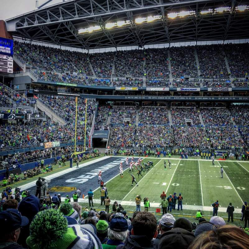 Seating view for CenturyLink Field Section CHR138 Row BB Seat 5