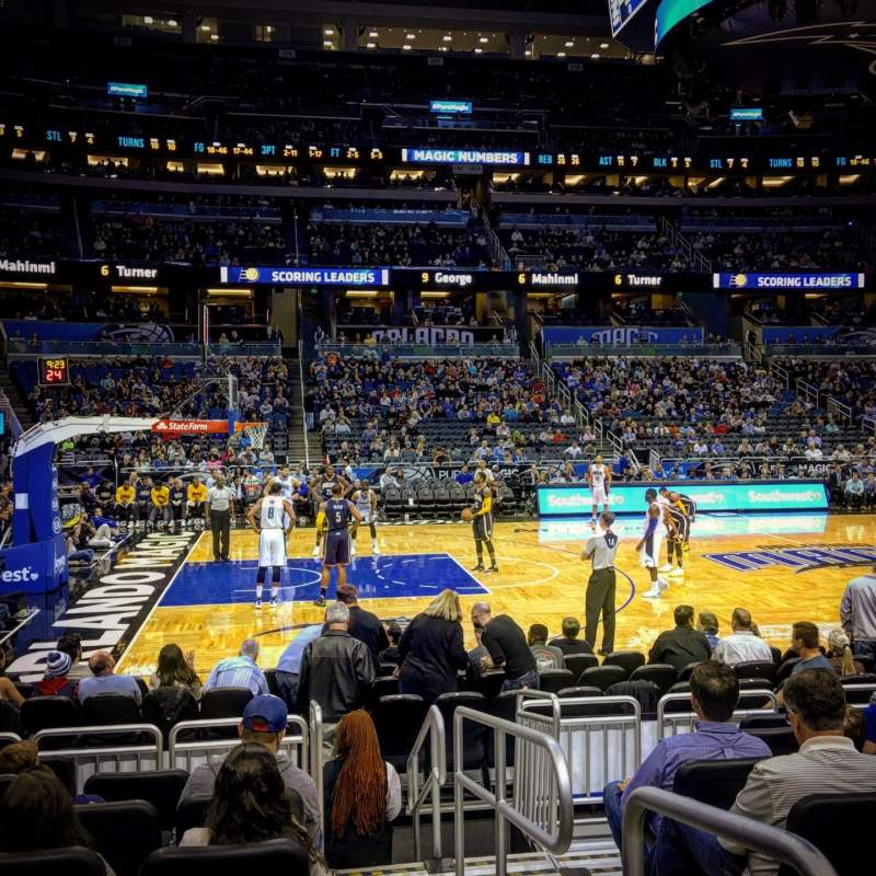 Seating view for Amway Center Section 116 Row 8 Seat 1