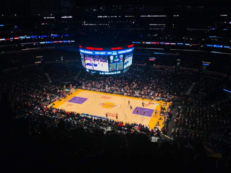 Staples Center, section: 333, row: 10, seat: 13