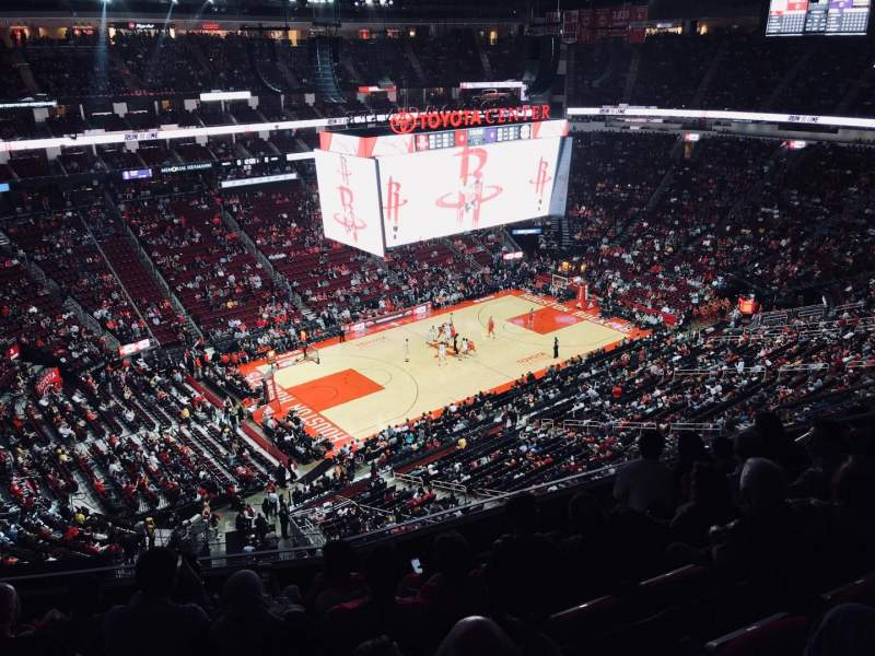Toyota Center, section: 413, row: 7, seat: 11