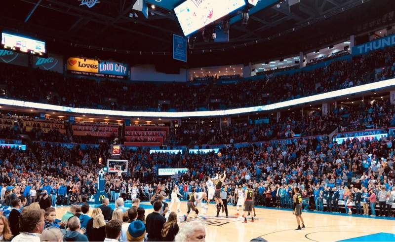 Seating view for Chesapeake Energy Arena Section 114 Row A Seat 10