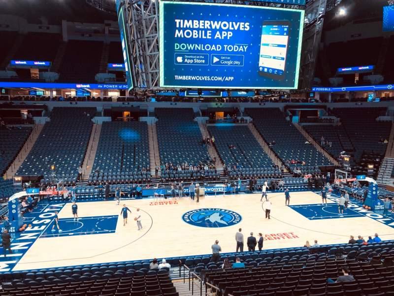 Target Center Section 112 Row P Seat 3 Minnesota Timberwolves