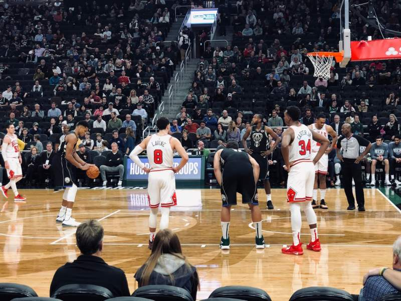 Seating view for Fiserv Forum Section 105 Row 2 Seat 7
