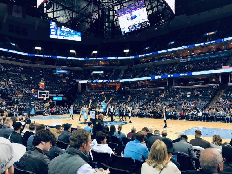 Seating view for FedEx Forum Section 106 Row F Seat 4