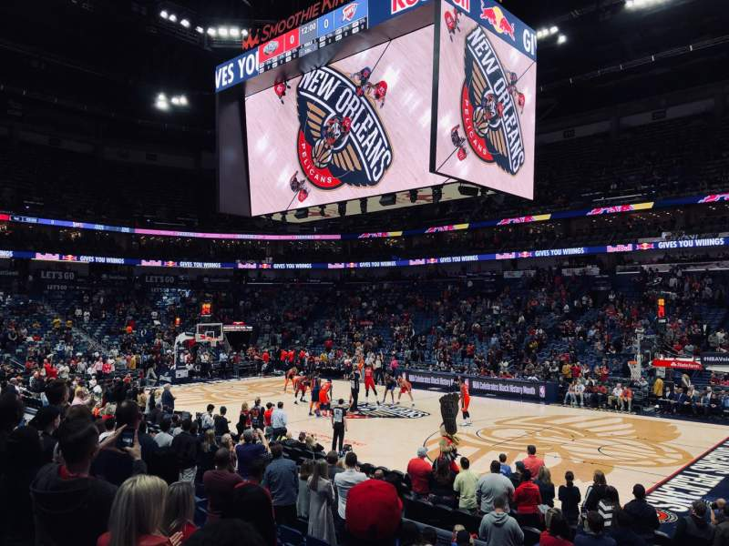 Seating view for Smoothie King Center Section 123 Row 14 Seat 1