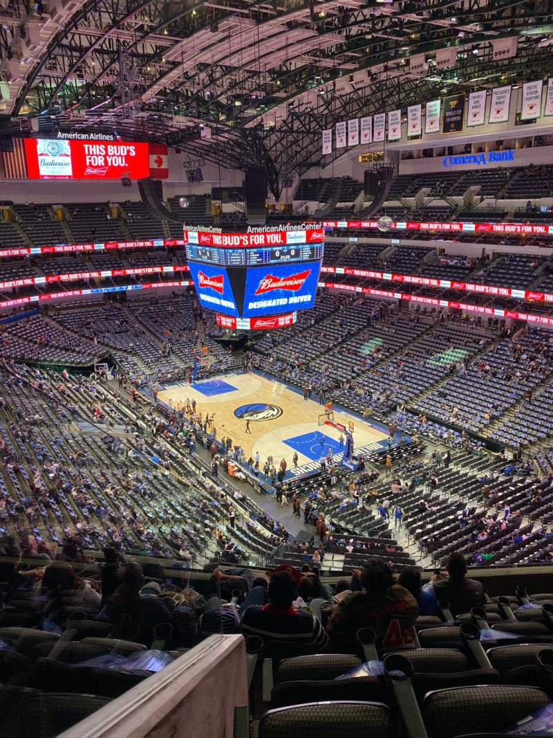 Seating view for American Airlines Center Section 321 Row H Seat 11