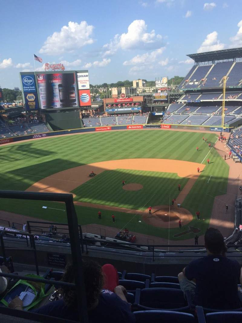Seating view for Turner Field Section 406R Row 6 Seat 1