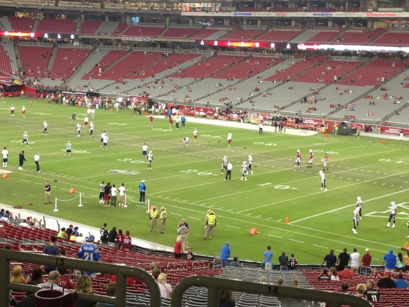 Seating view for University Of Phoenix Stadium Section 124 Row 41 Seat 14