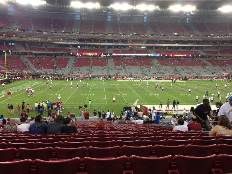 Seating view for University Of Phoenix Stadium Section 132 Row 35 Seat 8