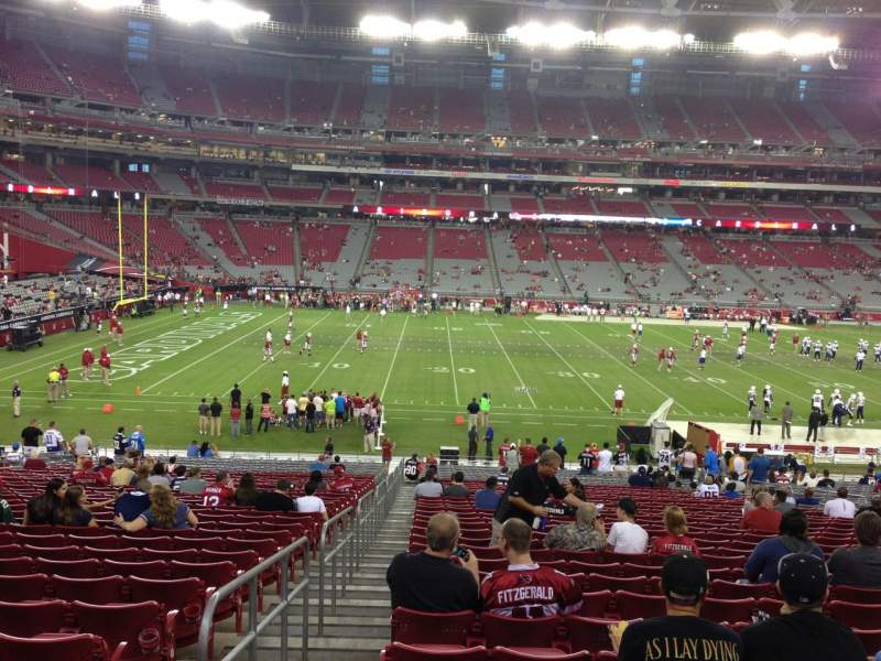 Seating view for University Of Phoenix Stadium Section 132 Row 35 Seat 18