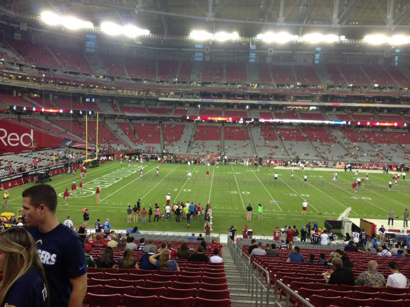 Seating view for University Of Phoenix Stadium Section 133 Row 35 Seat 1