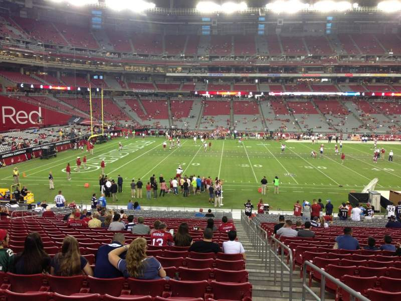 Seating view for University Of Phoenix Stadium Section 133 Row 30 Seat 1