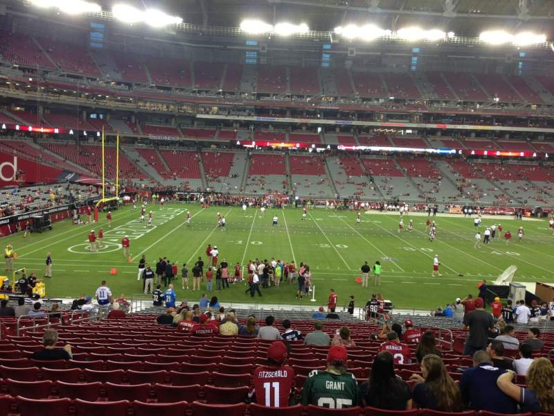 Seating view for University Of Phoenix Stadium Section 133 Row 30 Seat 8
