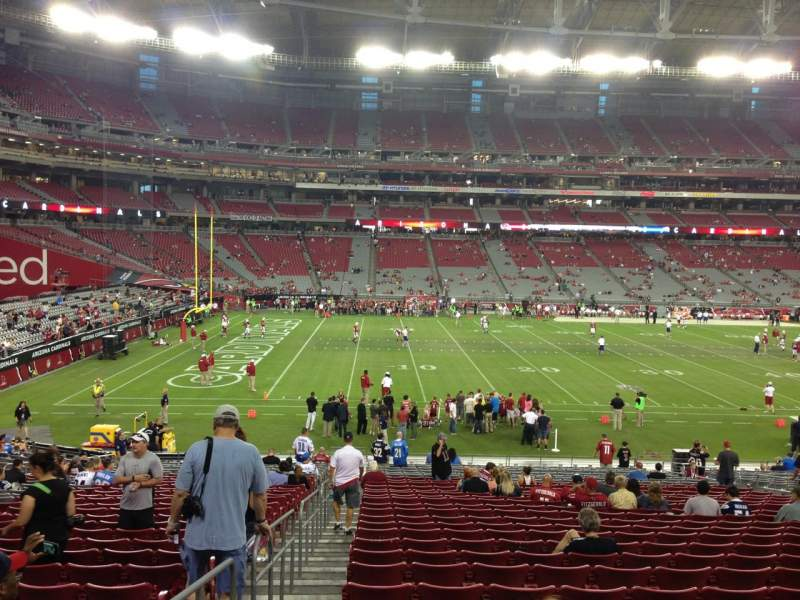Seating view for University Of Phoenix Stadium Section 133 Row 30 Seat 18