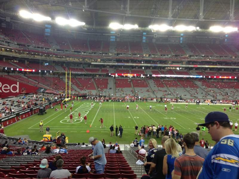 Seating view for University Of Phoenix Stadium Section 134 Row 30 Seat 1