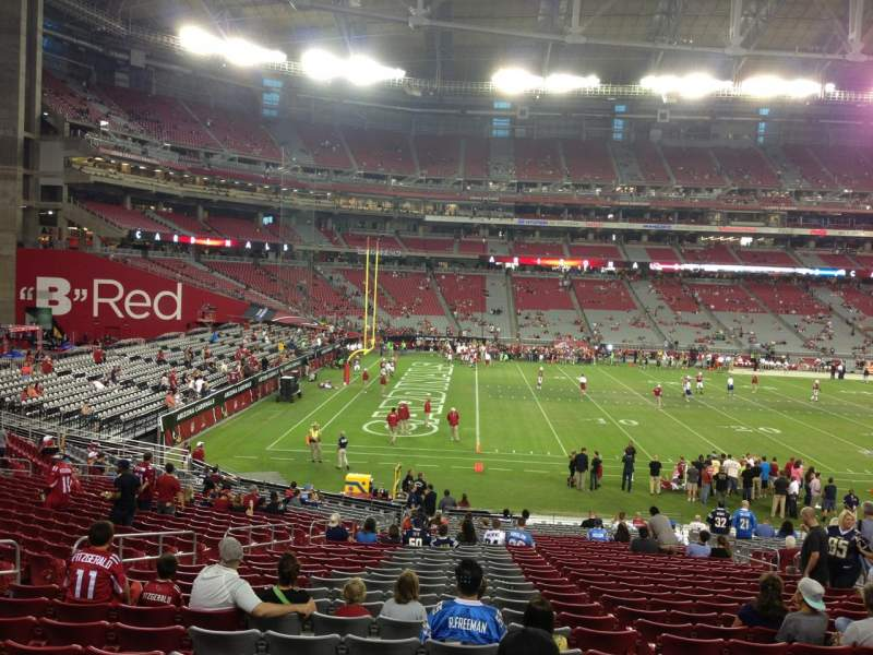 Seating view for University Of Phoenix Stadium Section 134 Row 30