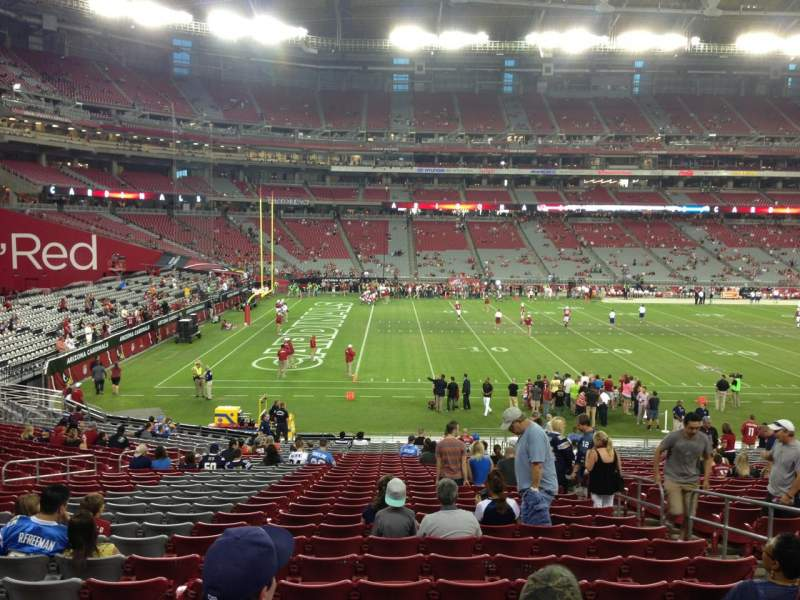 Seating view for University Of Phoenix Stadium Section 134 Row 30 Seat 6