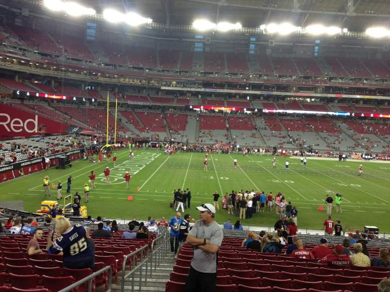 Seating view for University Of Phoenix Stadium Section 133 Row 26 Seat 18