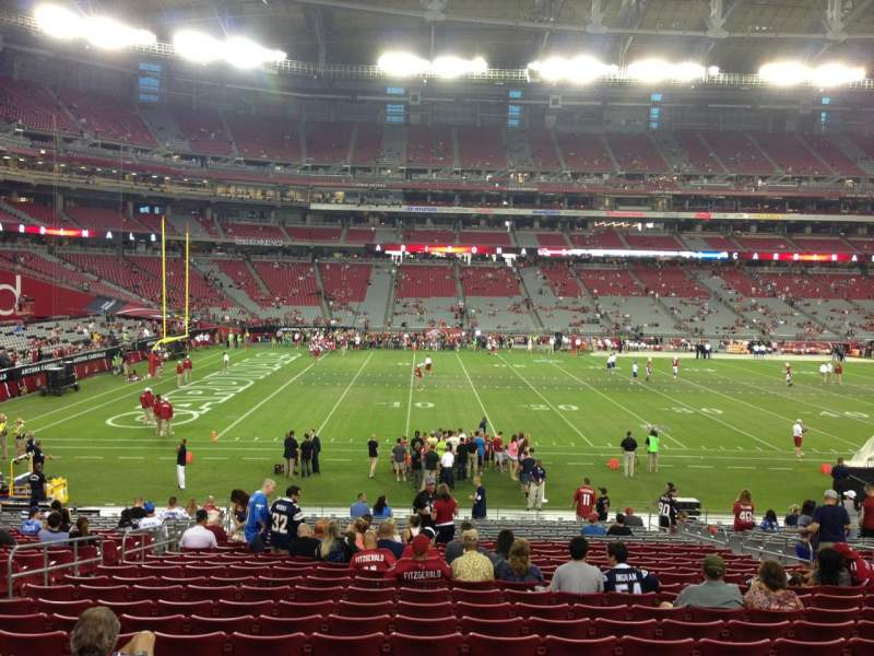 Seating view for University Of Phoenix Stadium Section 133 Row 26 Seat 11