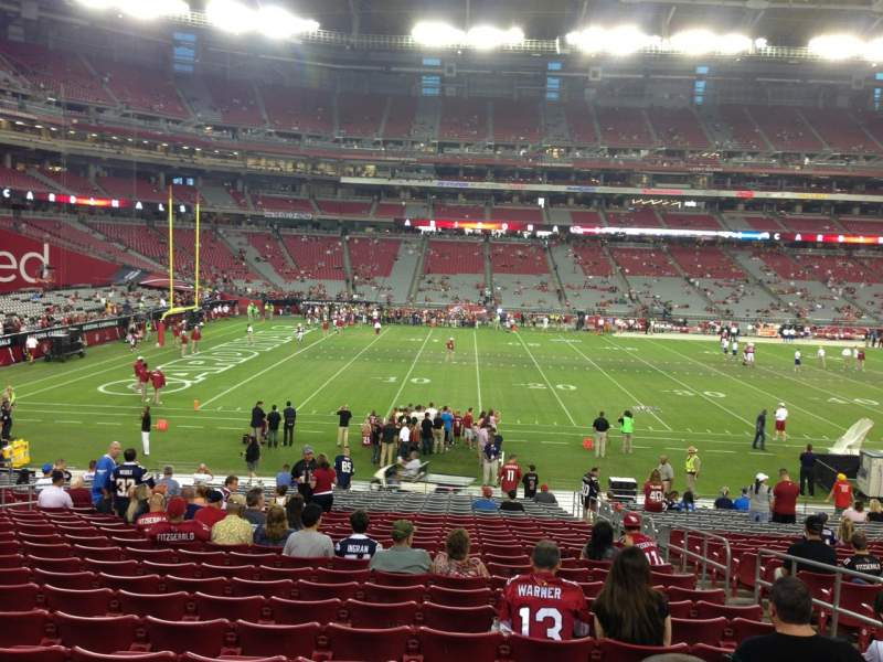Seating view for University Of Phoenix Stadium Section 133 Row 26 Seat 5