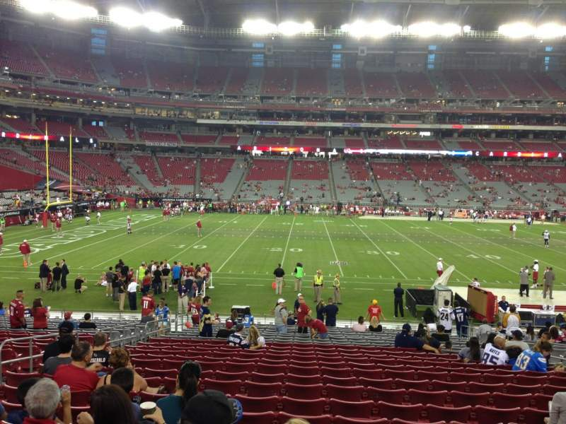 Seating view for University Of Phoenix Stadium Section 132 Row 24 Seat 11