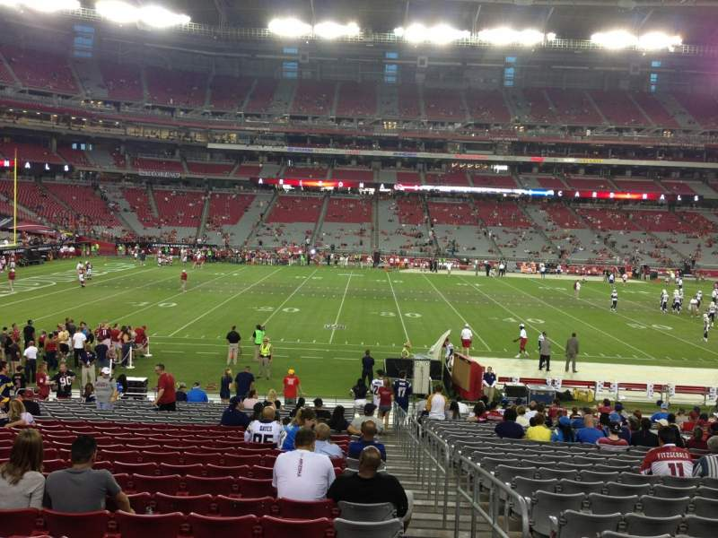 Seating view for University Of Phoenix Stadium Section 132 Row 24 Seat 1
