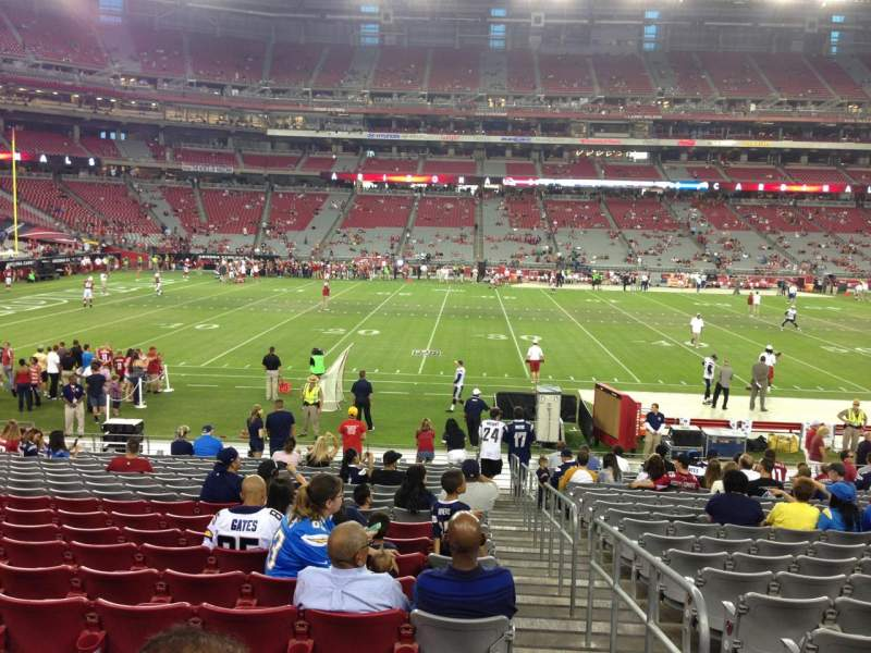 Seating view for University Of Phoenix Stadium Section 132 Row 19 Seat 1