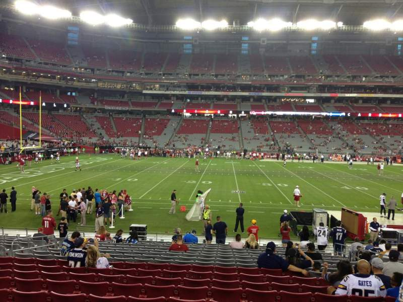 Seating view for University Of Phoenix Stadium Section 132 Row 19 Seat 8