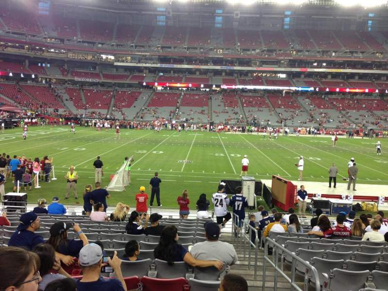 Seating view for University Of Phoenix Stadium Section 132 Row 12 Seat 1