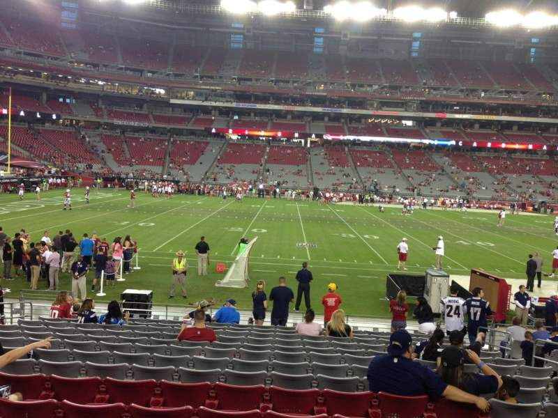 Seating view for University Of Phoenix Stadium Section 132 Row 12 Seat 8
