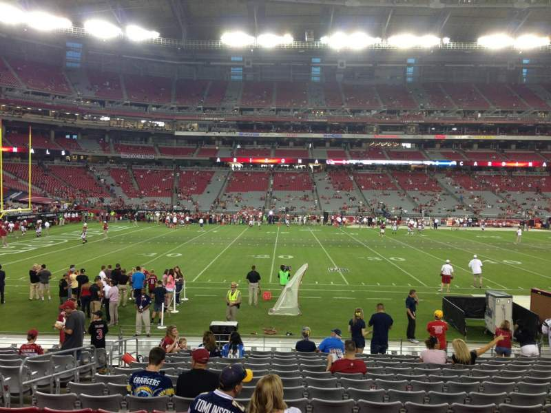 Seating view for University Of Phoenix Stadium Section 132 Row 12 Seat 13