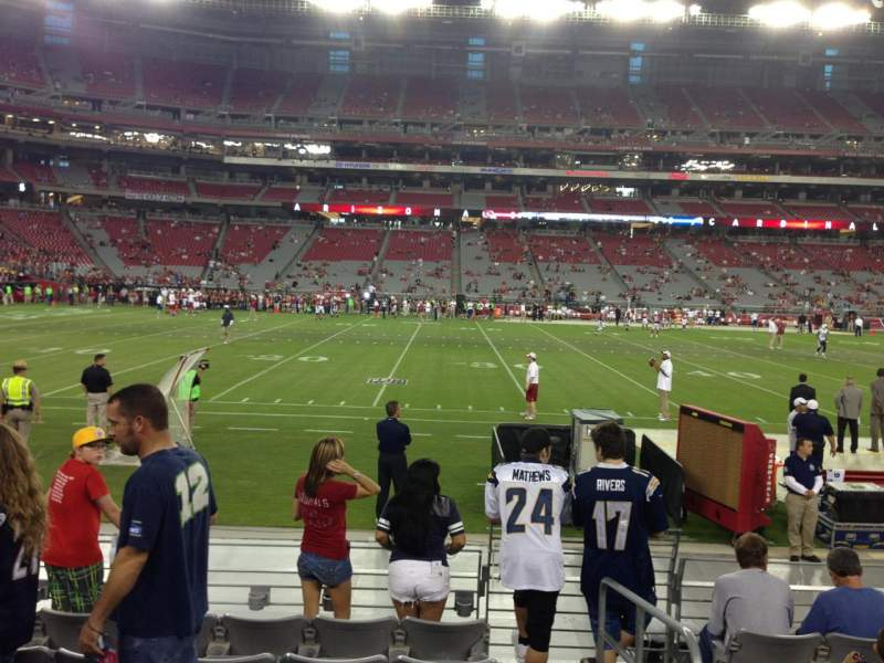 Seating view for University Of Phoenix Stadium Section 132 Row 7 Seat 1