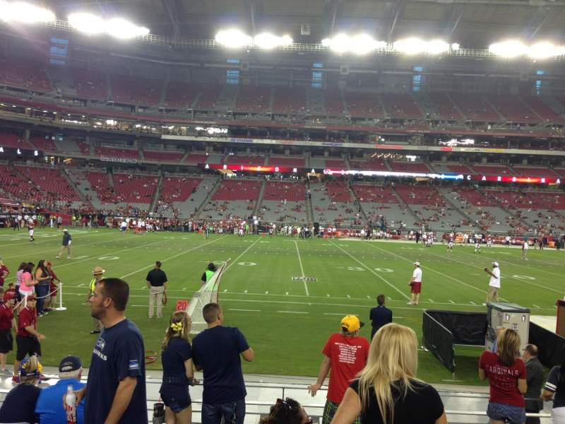 Seating view for University Of Phoenix Stadium Section 132 Row 7 Seat 7